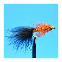 Bead Head Woolly Bugger   Orange Black